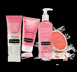 Neutrogena Visibly Clear Pink Grapefruit Range